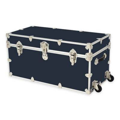 Rhino Trunk and Case™ XXL Rhino Armor Large Trunk with Removable Wheels in Navy