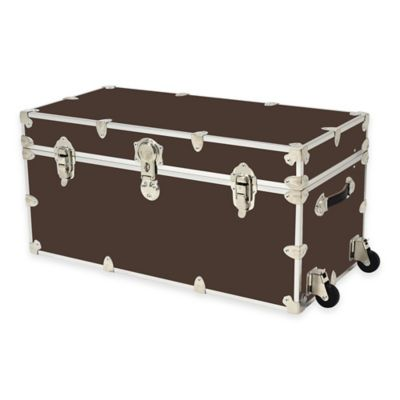 Rhino Trunk and Case™ XXL Rhino Armor Large Trunk with Removable Wheels in Dark Brown