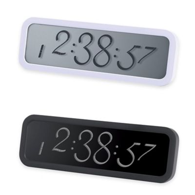 Script Small Alarm Clock with LCD in Black