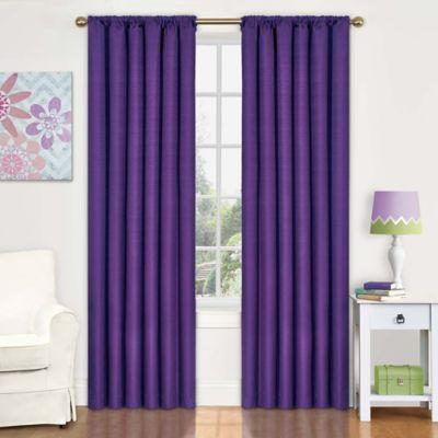 Insola Kate 63-Inch Rod Pocket Blackout Window Curtain Panel in Purple