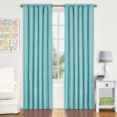 Insola Kate Rod Pocket 63-Inch Blackout Window Curtain Panel in Coral