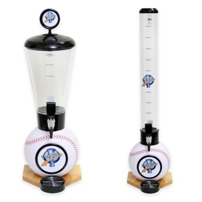 Drink Tubes™ 100 oz. Baseball Drink Dispenser with Standard Tap in White
