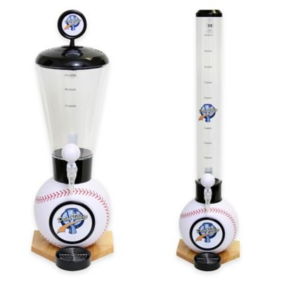 Drink Tubes™ 100 oz. Baseball Drink Dispenser with Baseball Tap in White
