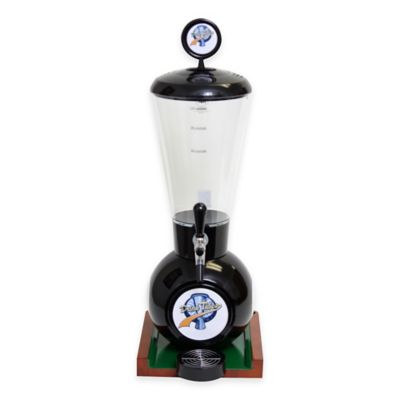 Drink Tubes™ 128 oz. 8-Ball Drink Dispenser with Commercial Tap in Black
