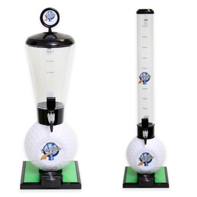 Drink Tubes™ 100 oz. Golf Ball Drink Dispenser with Standard Tap in White