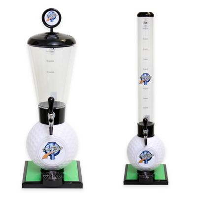 Drink Tubes™ 100 oz. Golf Ball Drink Dispenser with Commercial Tap in White