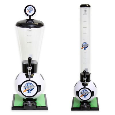 Drink Tubes™ Soccer Ball 128 oz. Drink Dispenser with Upgraded Tap in White
