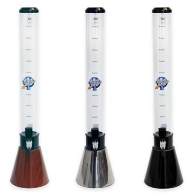 Drink Tubes Cone-Shaped 100 oz. Drink Dispenser with Tap in Black