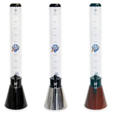 Drink Tubes Cone-Shaped 100 oz. Drink Dispenser with Upgraded Tap in Black