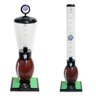 Drink Tubes™ Football 128 oz. Drink Dispenser with Standard Tap in Brown