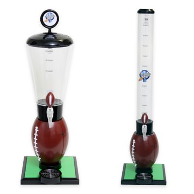 Drink Tubes™ Football 128 oz. Drink Dispenser with Football Tap in Brown