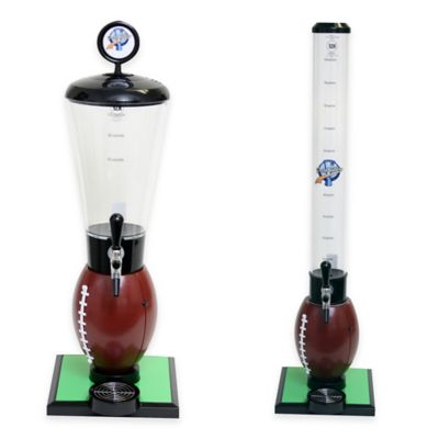Drink Tubes™ Football 128 oz. Drink Dispenser with Upgraded Tap in Brown
