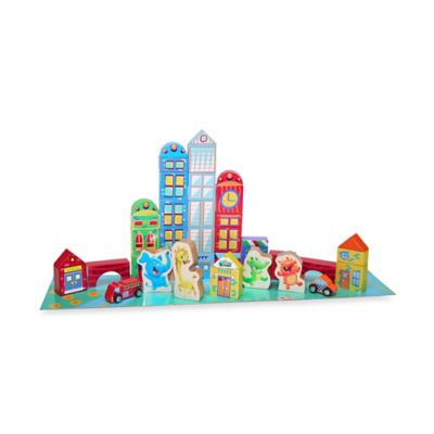 Playskool 40-Piece Elefun City Building Blocks