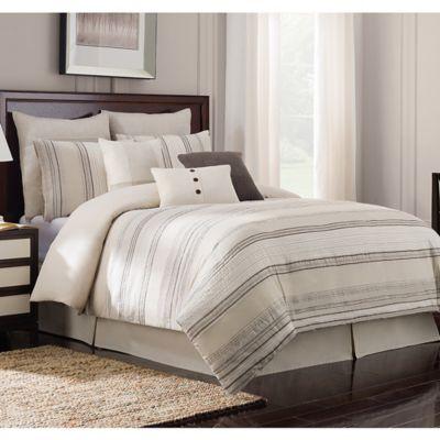 Bridge Street Crawford California King Comforter Set in Natural