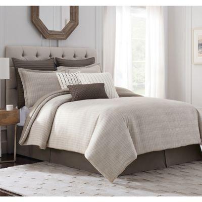 Bridge Street Loom King Comforter Set in Pebble