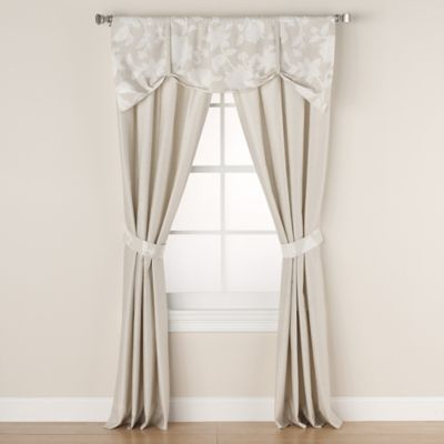 Wamsutta® Secret Garden Pole Top 84-Inch Window Panel Pair in Natural