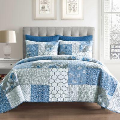 Ariel Cotton King Pillow Sham in Blue