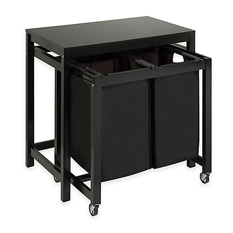Buy Honey-Can-Do® Double Laundry Sorter and Folding Table in Black ...