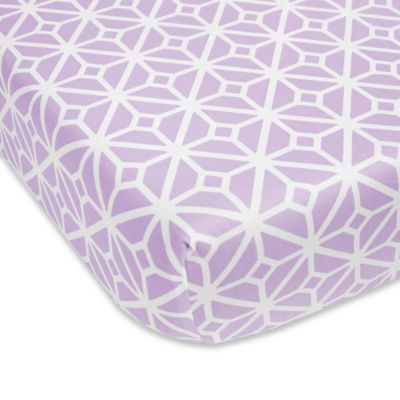 CoCaLo® Mix & Match Violet Lattice Fitted Crib Sheet in Lavender/White