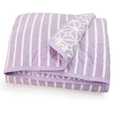 CoCaLo® Mix & Match Violet Trellis & Lattice Coverlet in Lavender/White