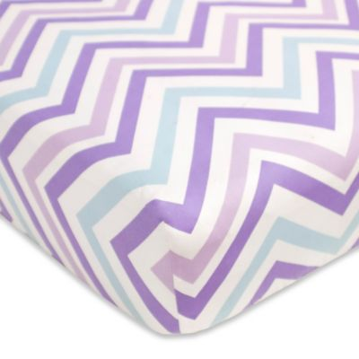 CoCaLo® Mix & Match Violet Chevron Fitted Crib Sheet in Purple/Blue
