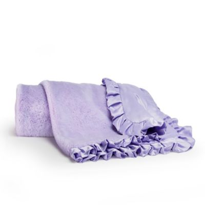 CoCaLo® Mix & Match Violet Faux Fur Ruffled Blanket in Lavender