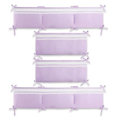 CaLo® Mix & Match Violet Reversible Solid 4-Piece Crib Bumper Set in Lavender