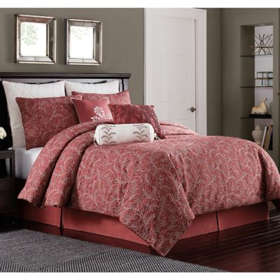Bridge Street Charleston Queen Comforter Set in Brick