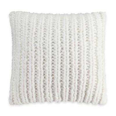 Bridge Street Loom Knit Square Throw Pillow in Pebble