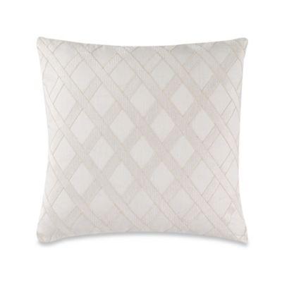 Wamsutta® Secret Garden Linen Applique Square Throw Pillow in Natural