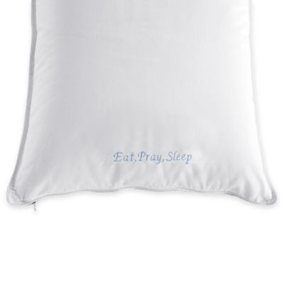 The Pillow Bar® Back Sleeper Standard Down Pillow in White