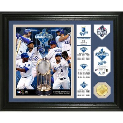 MLB Kansas City Royals 2015 World Series Champion Banner Bronze Coin Photo Mint