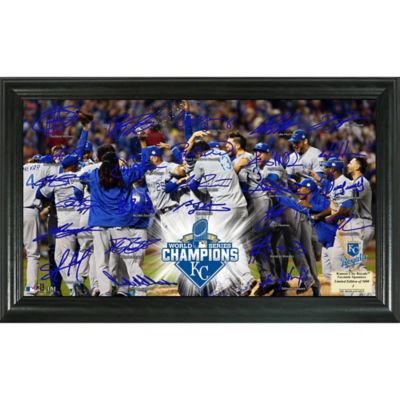 MLB Kansas City Royals 2015 World Series Champions Celebration Signature Field Frame
