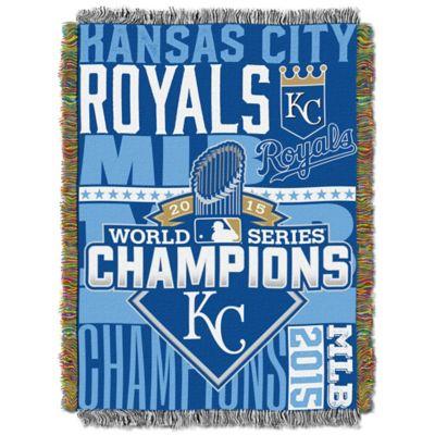 MLB Kansas City Royals 2015 World Series Champions Tapestry Throw Blanket
