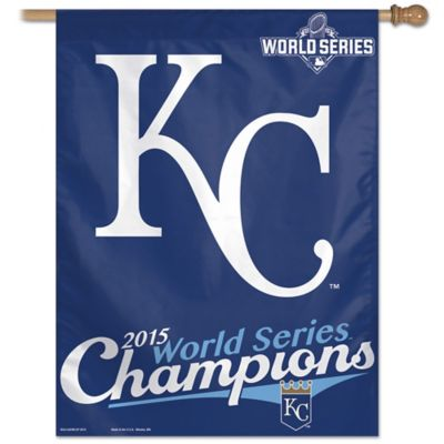 MLB Kansas City Royals 2015 World Series Vertical Flag