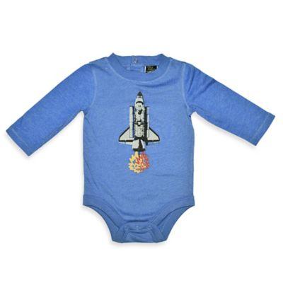 Charlie Rocket™ Size 3M Rocket Long-Sleeve Bodysuit in Blue