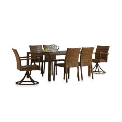 Panama Jack St. Barth's 7-Piece Outdoor Rectangular Dining Set
