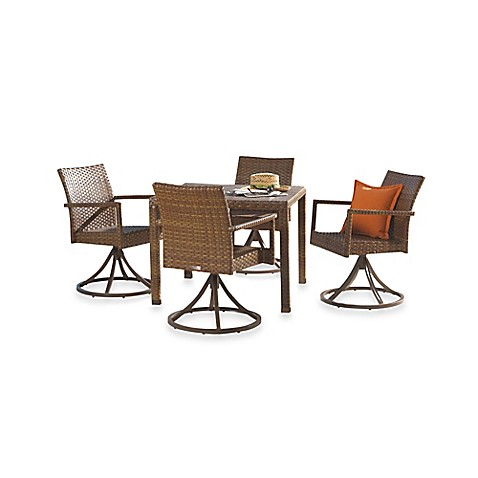 Panama Jack St Barth S 5 Piece Outdoor Swivel Chair