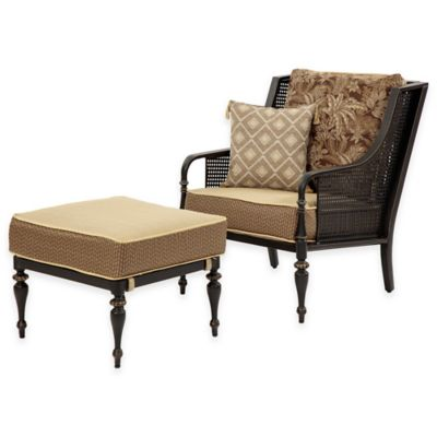 Bombay® Sherborne 2-Piece Chair and Ottoman Set in Brown