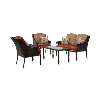 Bombay® Glenburn 4-Piece Conversation Set in Red