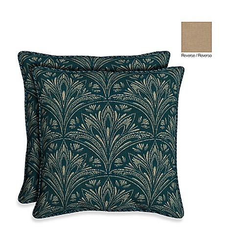 Buy Bombay 21-Inch Royal Zanzibar Throw Pillow (Set of 2) from Bed Bath & Beyond