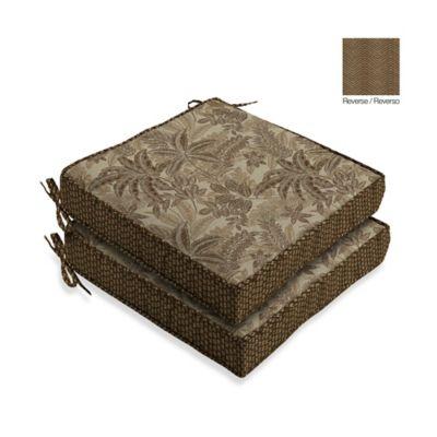 Bombay® Palmetto Seat Cushions in Mocha (Set of 2)