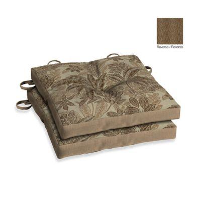 Bombay® Palmetto Bistro Cushions in Mocha (Set of 2)