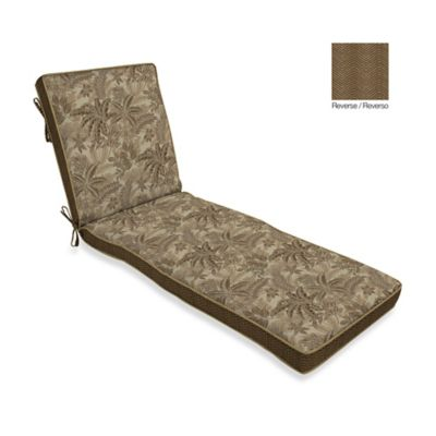 Bombay® Palmetto Chaise Cushion in Mocha
