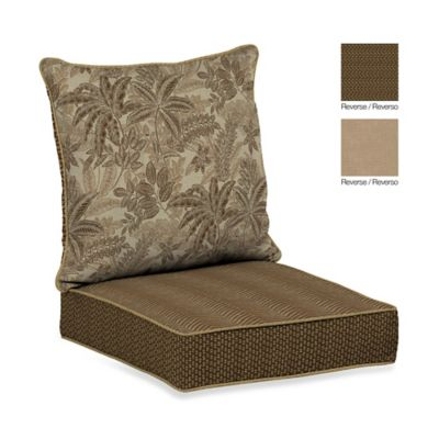 Bombay® Palmetto Deep Seat Cushion Set in Mocha