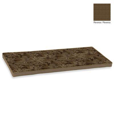 Bombay® Palmetto Bench Cushion in Espresso