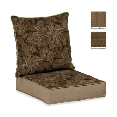 Bombay® Palmetto Deep Seat Cushion Set in Espresso