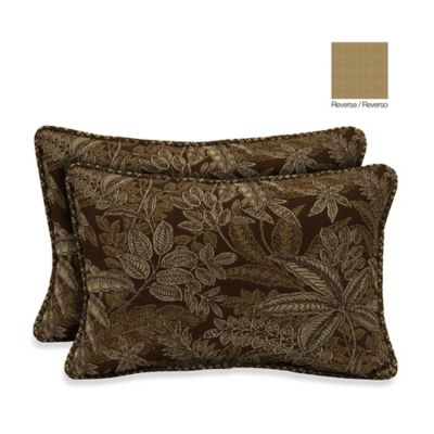 Bombay® 13-Inch x 20-Inch Palmetto Throw Pillow in Espresso (Set of 2)