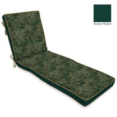 Bombay® Palmetto Chaise Cushion in Jungle Green