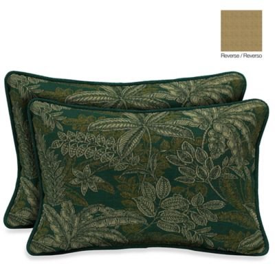 Bombay® 13-Inch x 20-Inch Palmetto Throw Pillow in Jungle Green (Set of 2)